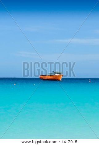Boat In Carlisle Bay Barbados