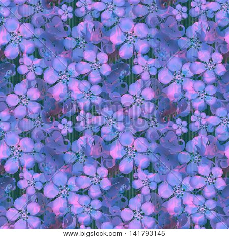 Seamless floral pattern. Wallpaper seamless violet blue flower pattern background