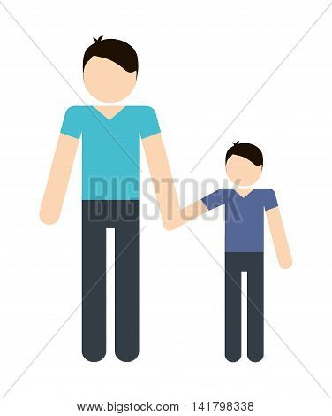 Avatar Family design represented by father and son icon. Colorfull and Isolated illustration.