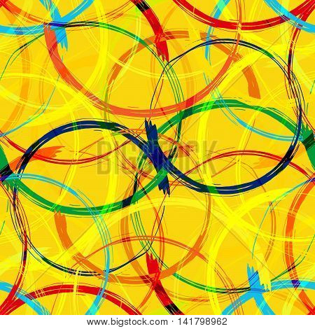 Rio 2016 Brazil Games Abstract Colorful Seamless Pattern Background. Vector Illustration EPS10