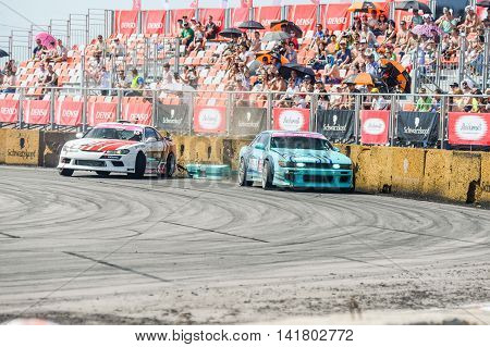 Khabarovsk Russia Jul 10 2016 : Russian Drift Series Stage 4 RDS Vostok 2016