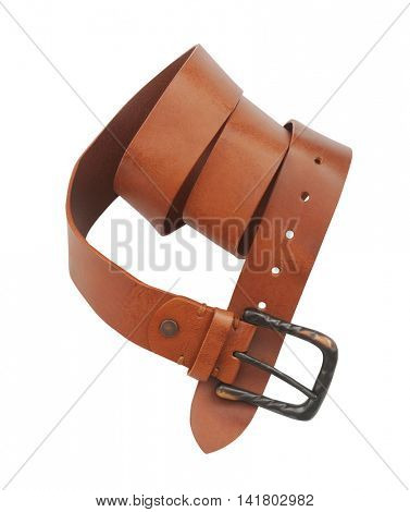 brown belt isolated on white background