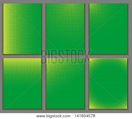 Abstract patterns of color flag of Brazil. Vector Illustration. EPS10