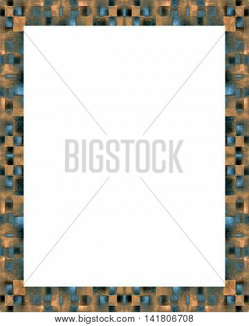 White Frame Background With Decorated Borders