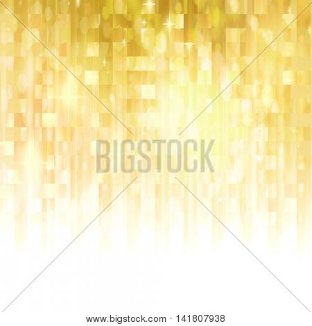 Beautiful golden background with stars