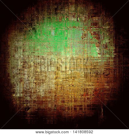 Spherical distressed texture, faded grunge background or backdrop. With different color patterns: yellow (beige); brown; green; red (orange); black