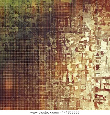 Decorative vintage texture or creative grunge background with different color patterns: yellow (beige); brown; gray; green; purple (violet); white
