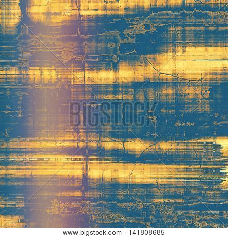 Art graphic texture for grunge abstract background. Aged colorful backdrop with different color patterns: yellow (beige); blue; purple (violet); pink