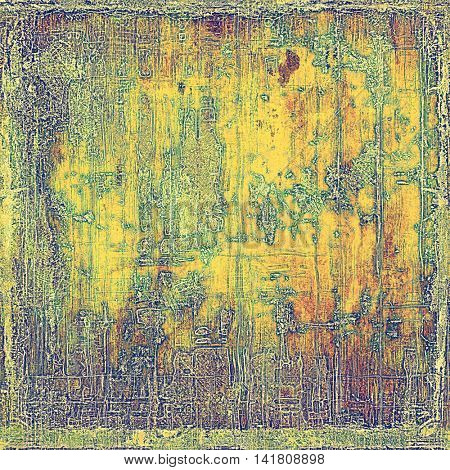 Grunge background for your design, aged shabby texture with different color patterns: yellow (beige); brown; green; red (orange); purple (violet)