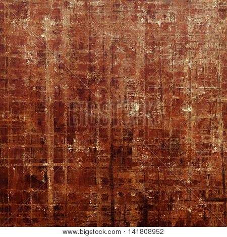 Distressed texture with ragged grunge overlay. Wrinkled background or backdrop with different color patterns: yellow (beige); brown; gray; red (orange); pink