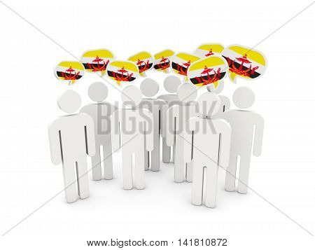 People With Flag Of Brunei