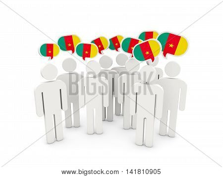 People With Flag Of Cameroon