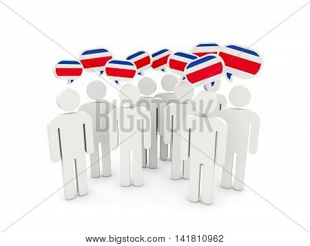 People With Flag Of Costa Rica