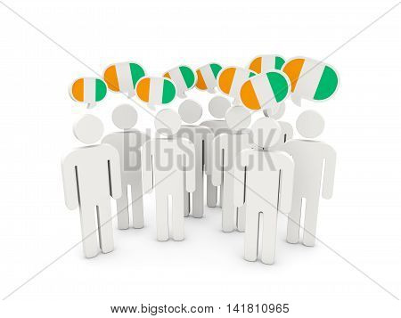 People With Flag Of Cote D Ivoire