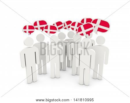 People With Flag Of Denmark