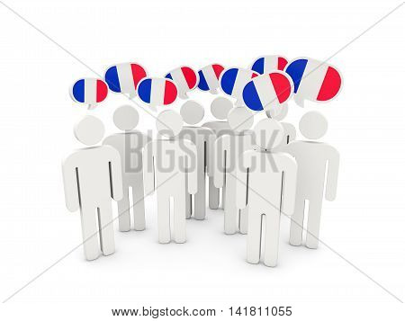 People With Flag Of France