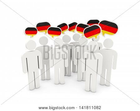 People With Flag Of Germany