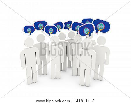 People With Flag Of Guam
