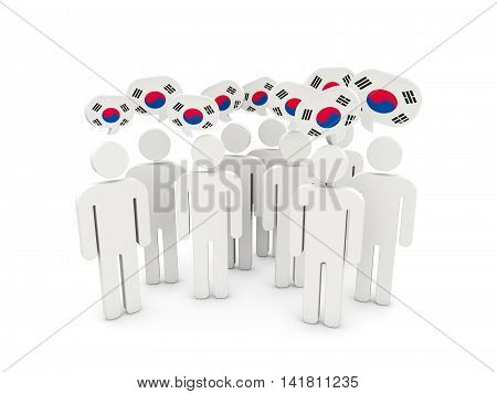 People With Flag Of Korea South