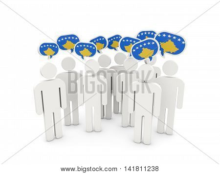 People With Flag Of Kosovo