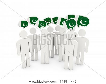 People With Flag Of Pakistan