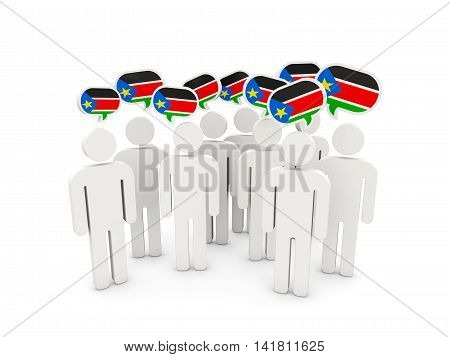 People With Flag Of South Sudan