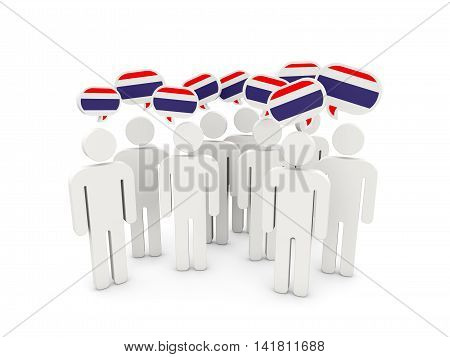 People With Flag Of Thailand