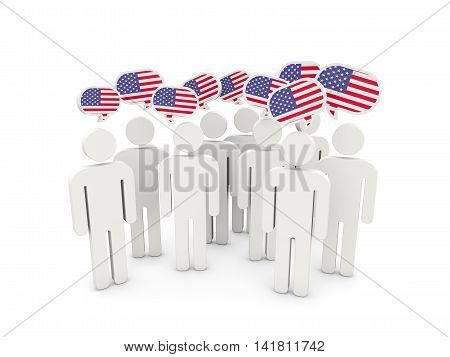 People With Flag Of United States Of America
