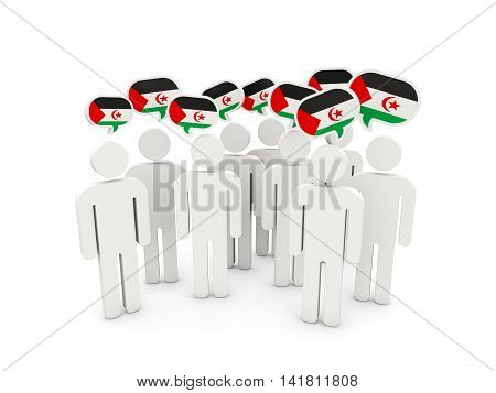 People With Flag Of Western Sahara