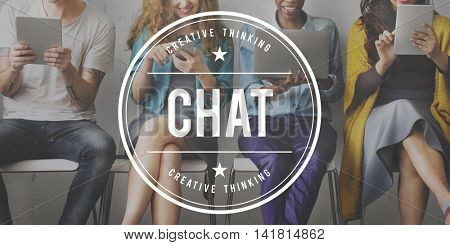 Chat Communication Social Networking Concept