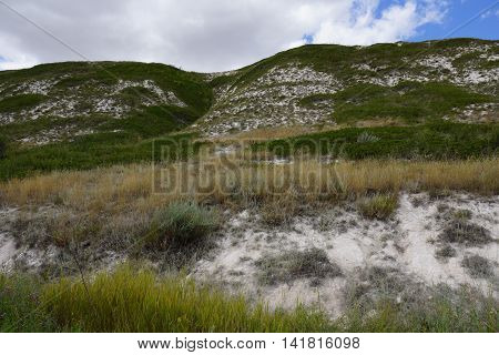 Mountains mountain, nature, hill, chalky, white, summer,