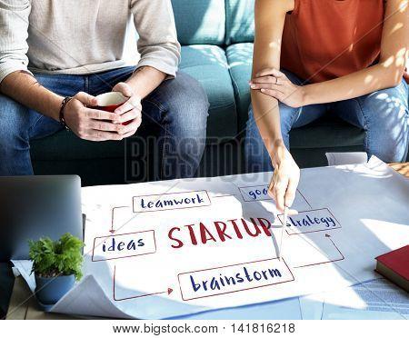 Business Startup Ideas Plan Concept