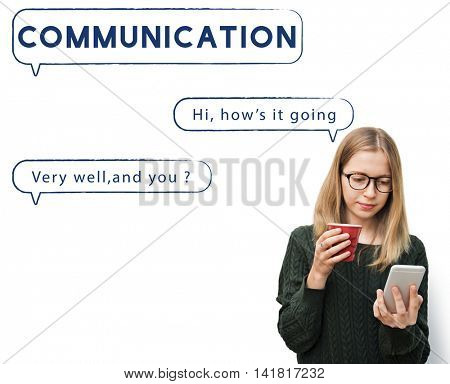 Social Network Speech Bubble Text Graphic Concept