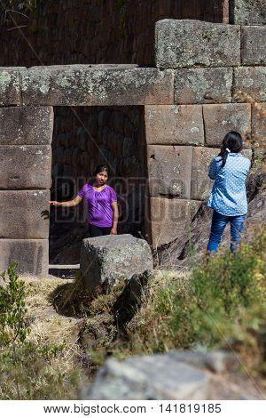 Inca Doorway In Pisac