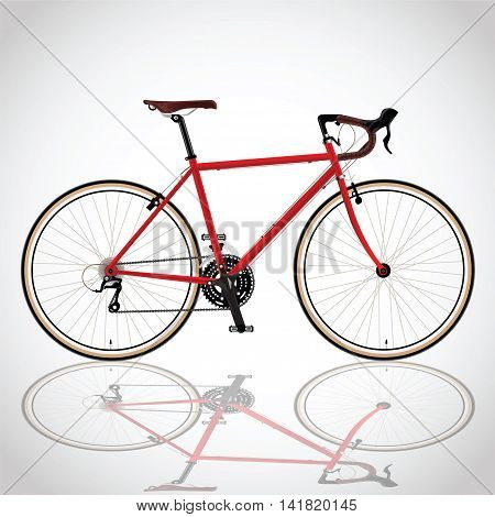 race road bike isolated bicycle on red fixed gear