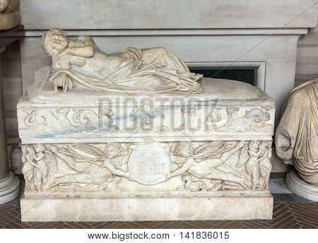 ROME ITALY - JUNE 14 2015: Marble sculpture in Galleria Borghese Rome Italy