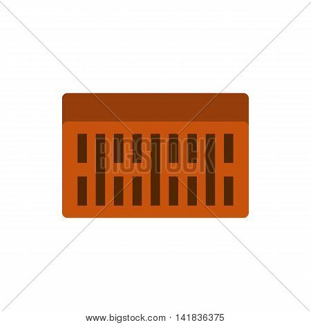 Brick icon in flat style isolated on white background. Building material symbol