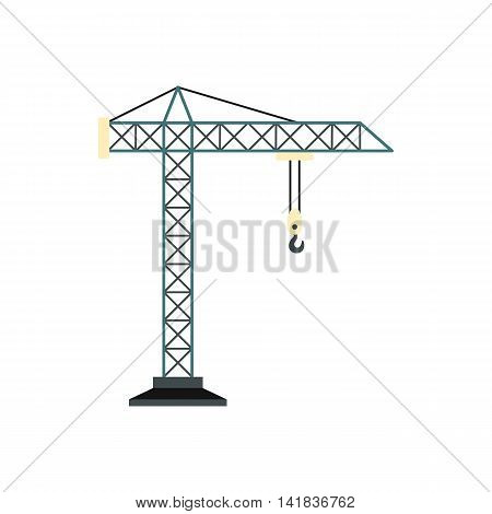 Crane icon in flat style isolated on white background. Raise symbol