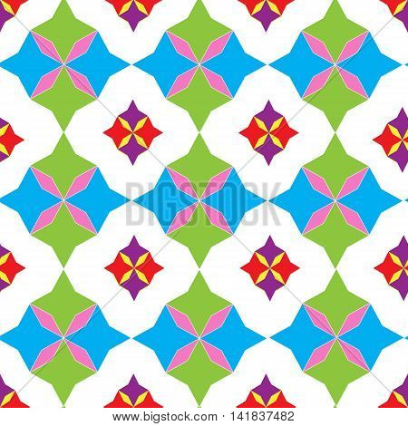 Seamless pattern of colored geometric shapes , background