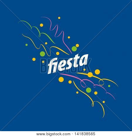 abstract logo design for a holiday. Vector illustration