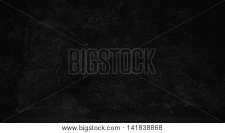 Dark black grungy vintage background with scratches