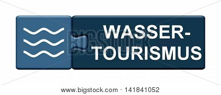 Isolated Puzzle Button with symbol is showing Water Tourism in german language
