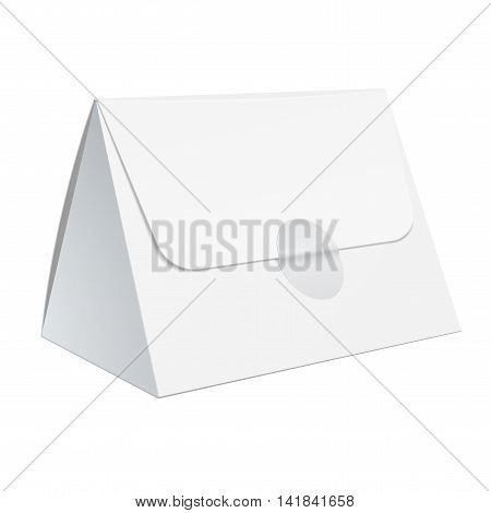 Realistic White Blank Template Packaging For Food.
