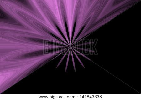 Illustration of an abstract purple flower in the middle