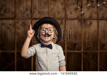 Little boy in a hat