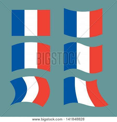 Flag Of France. Set National Flag Of French State. State Symbol Of Country