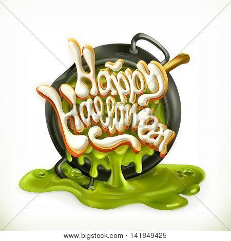 Happy Halloween 3d vector icon