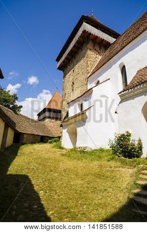 images from Viscri fortified monastery, Sibiu Romania