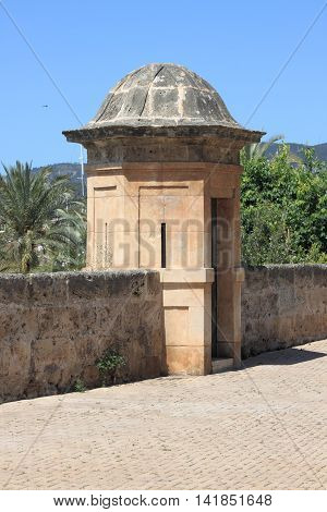 Sentry box at Dalt Murada in Palma de Mallorca Spain