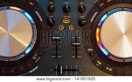 The DJ  controller in the included state